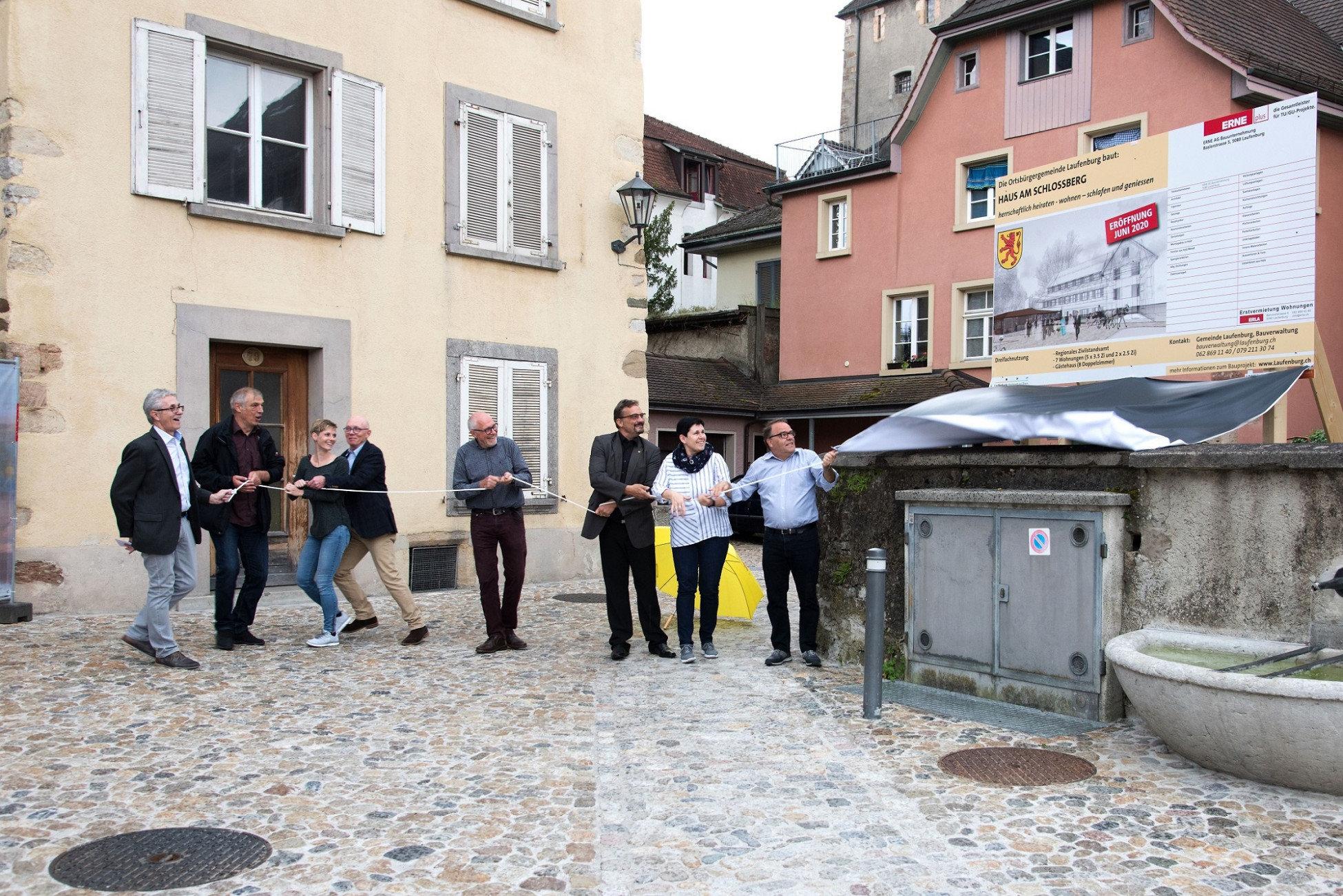 Umbau Sanierung Grimmer Liegenschaft Laufenburg Bautafel