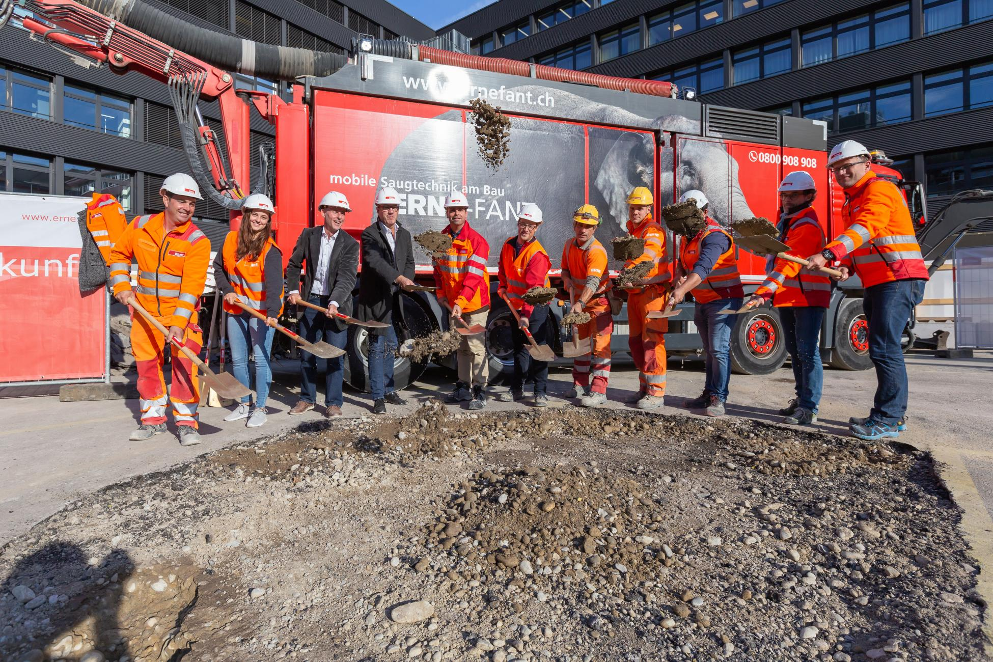Zürich Spatenstich TU-Projekt Neubau Kriminalpolizei