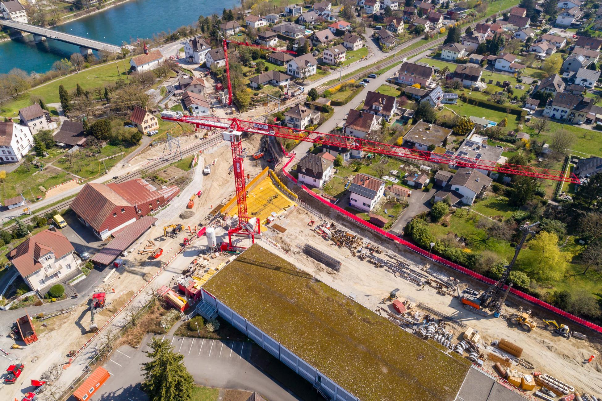Baustelle Ostumfahrung Bad Zurzach