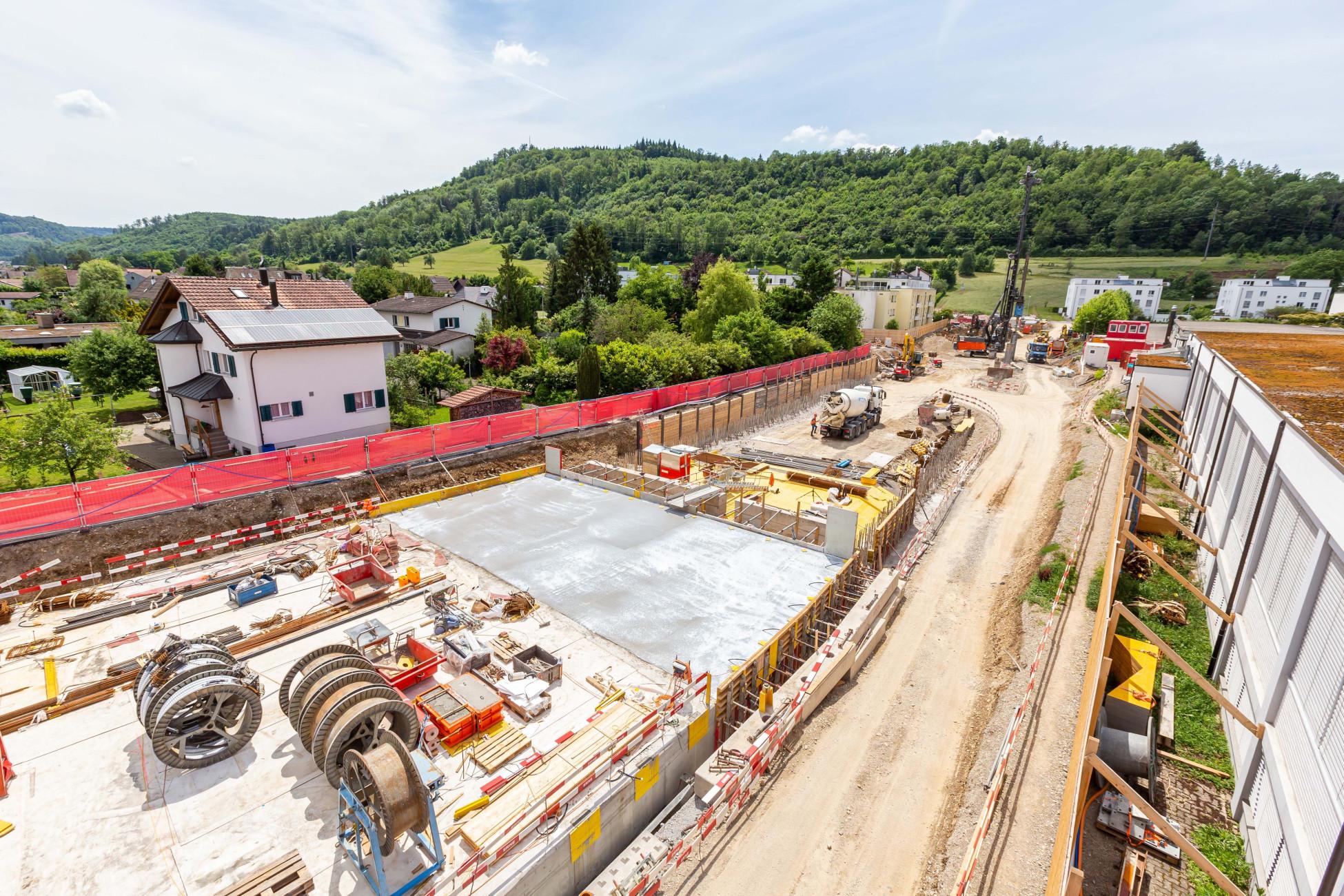 Hochbau Tunneldecke betonieren Ostumfahrung Bad Zurzach