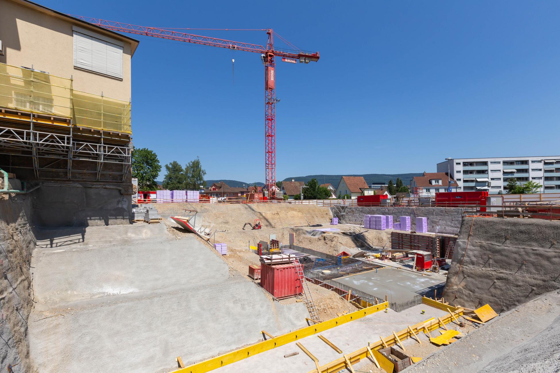Hochbau Aarau Laborgebäude Bodenplatte