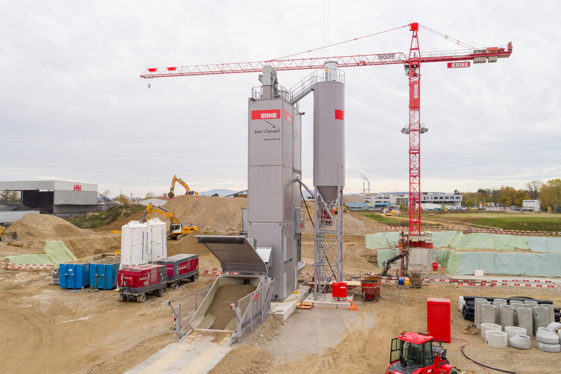 Mobile Betonanlage Allschwil Neubau GRID