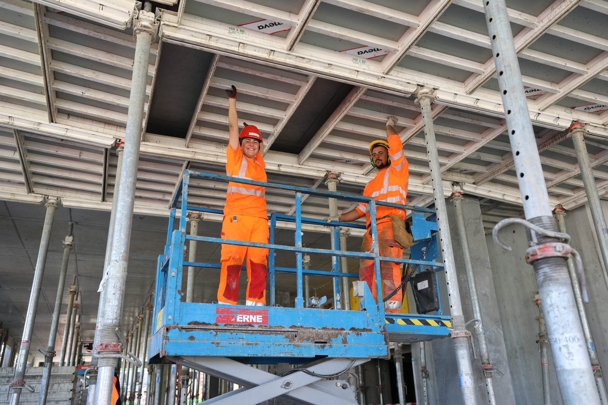 Neubau Aarau Deckenschalung