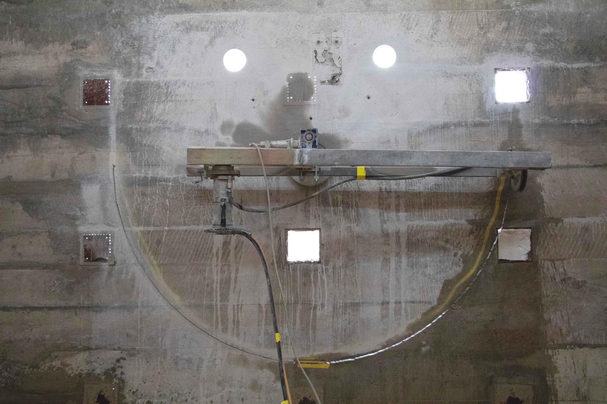 Beton schneiden Umbau Silo Erlenmatt