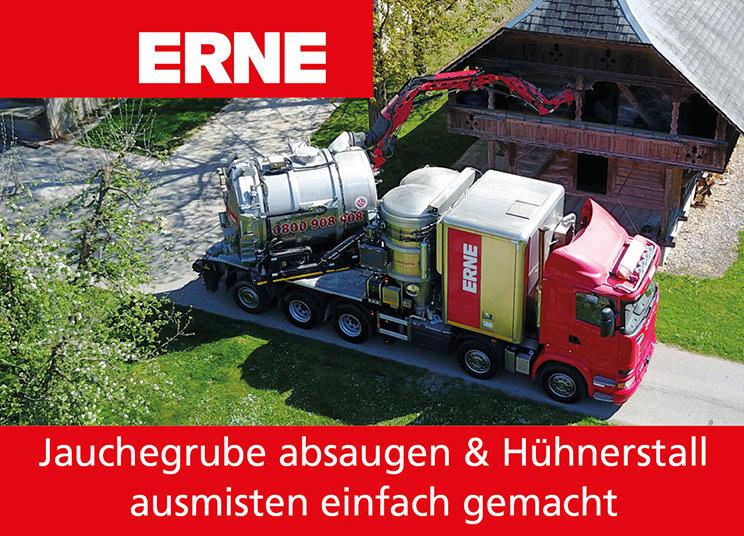 ERNE-Fant Saugbagger absaugen Jauchegrube