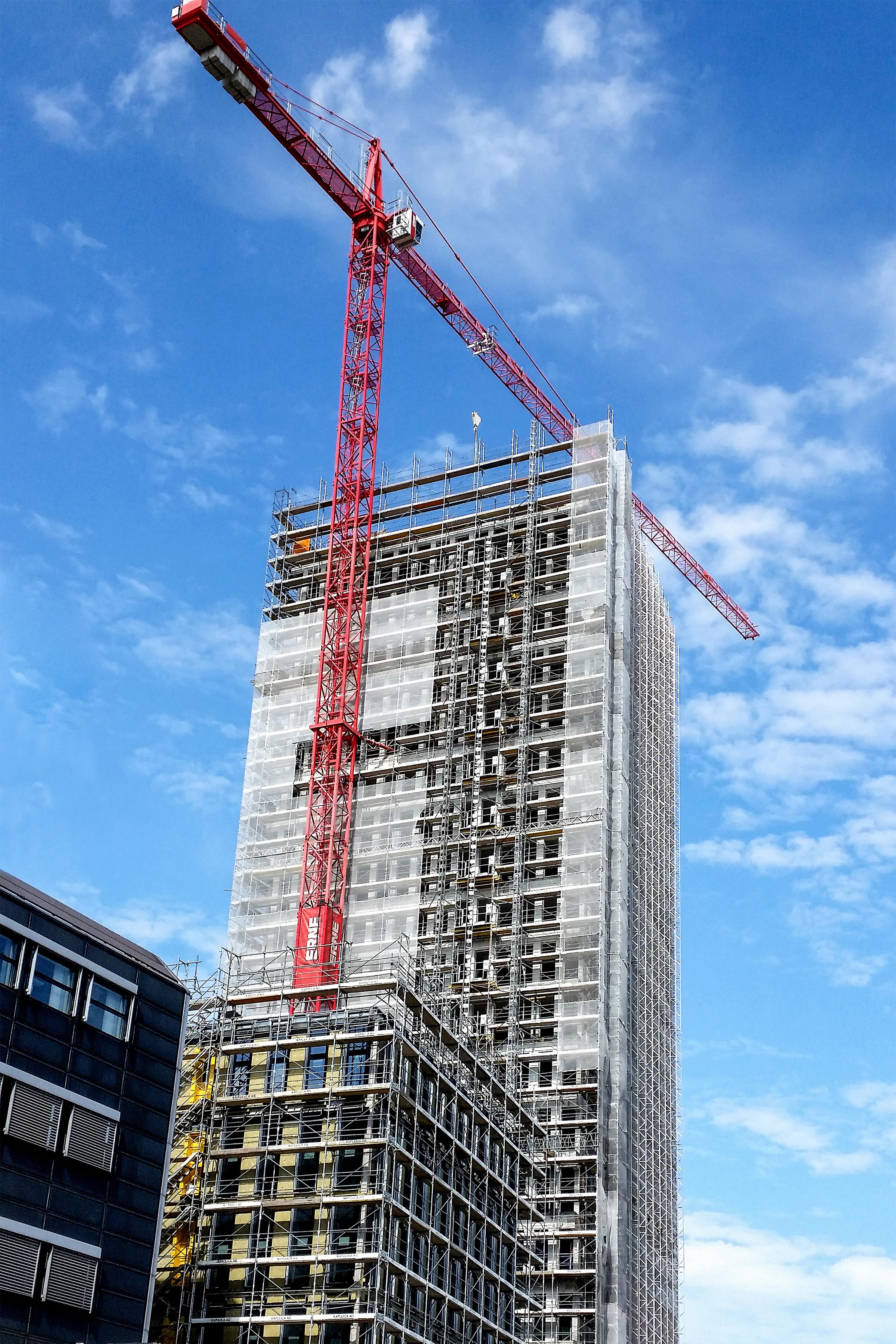 Hochbau Baustelle, Grosspeter Tower, Hochhaus