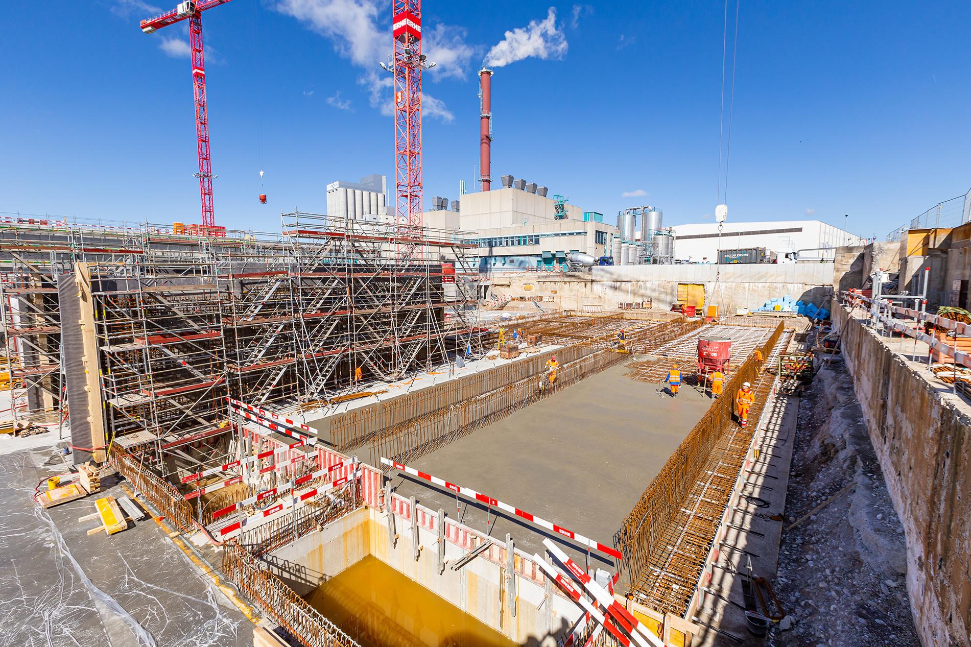 Hochbau Wasserbauten Basel Erweiterung ARA