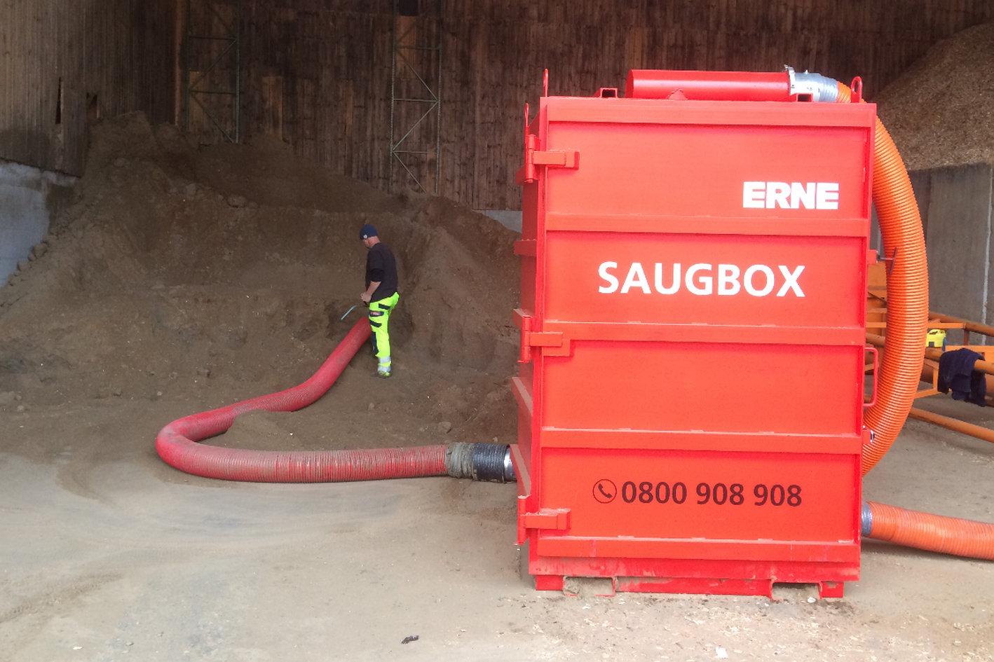Saugbagger Einsatz mit der Saugbox
