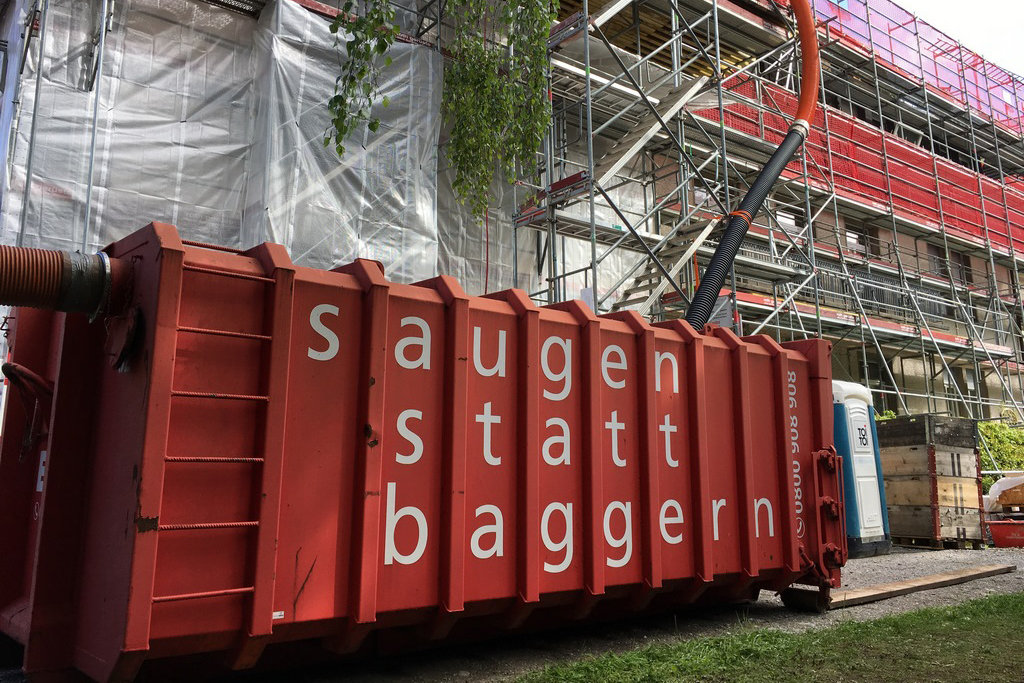 Saugbagger Saugcontainer saugen statt baggern