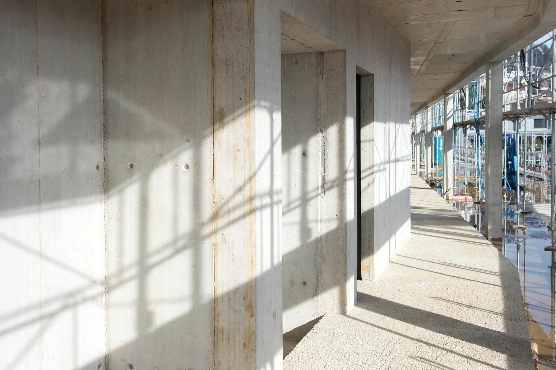 Totalunternehmer Projekt Neubau Stadtpolizei Zürich Gebäude innen