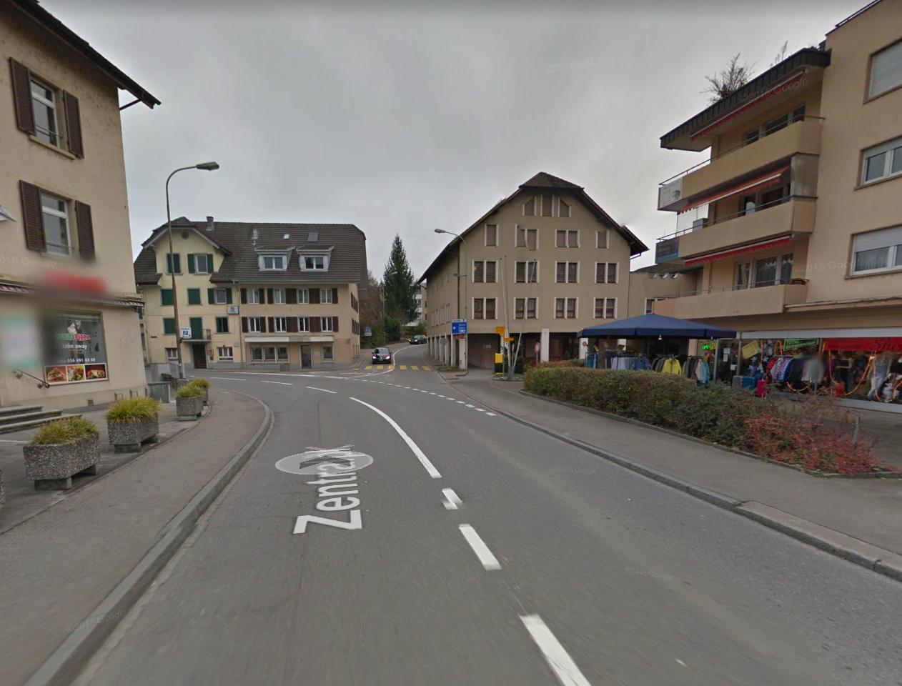 Mellingen Hauptgasse Wasserrohrbruch Situation Google Streetview