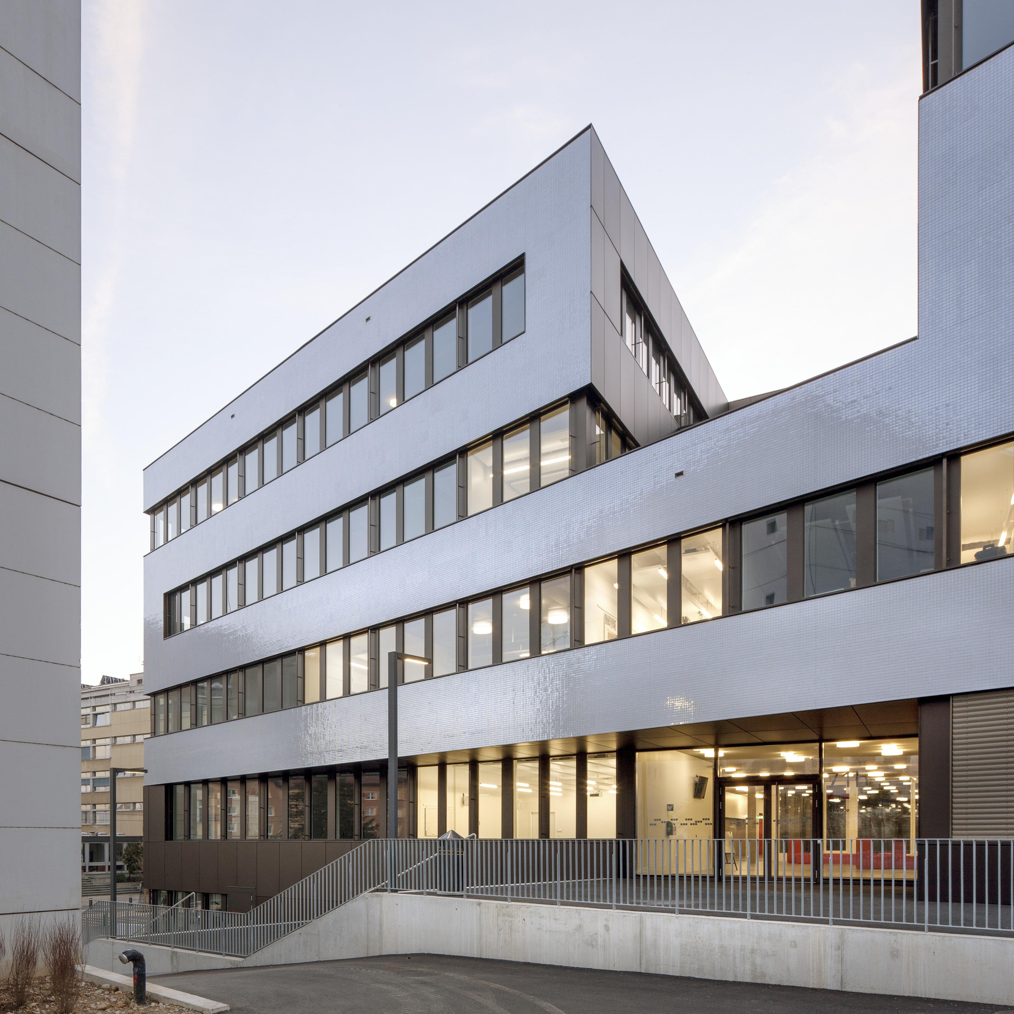 Forschungsgebäude in Hybridbauweise in Holz-Beton-Verbundsystem